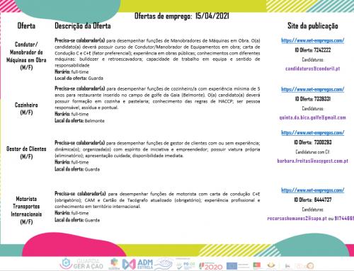 Ofertas de Emprego 15-04-2021