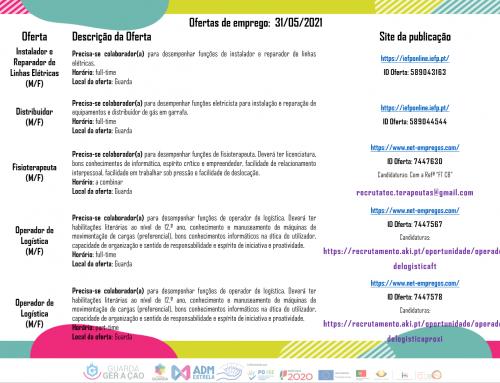 Ofertas de Emprego 31-05-2021