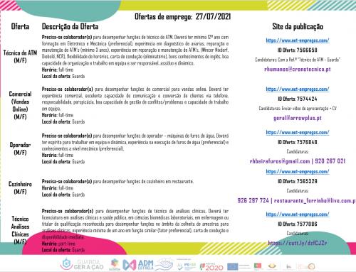 Ofertas de Emprego 27-07-2021