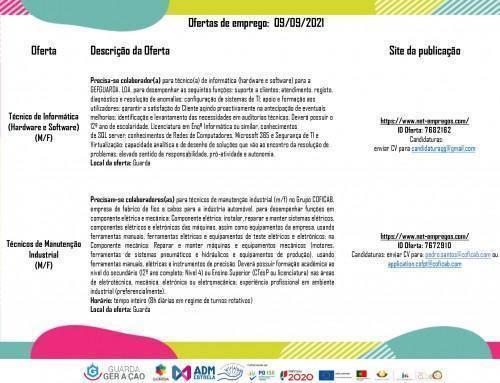 Ofertas de Emprego 09-09-2021