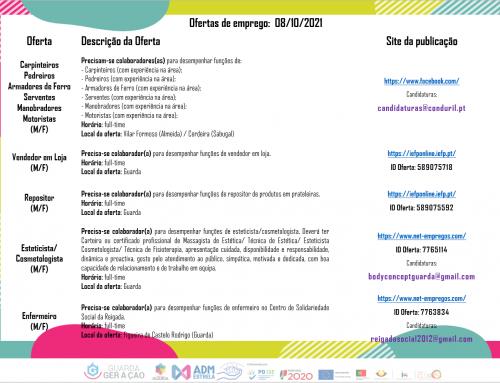 Ofertas de Emprego 08-10-2021